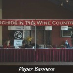 Miniature banner, trade show, demo stand