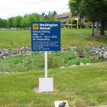 Wayfinding, sign, signage, Post and panel, exterior, exterior signs,